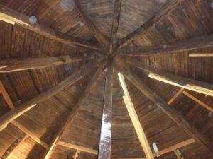 Holz Dachkuppel vorher