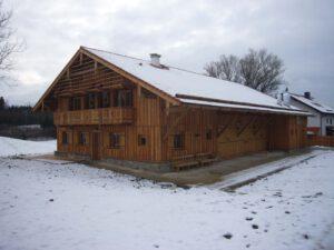 Holzhausbau Winter
