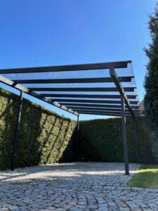 Glasüberdachung Carport Metall