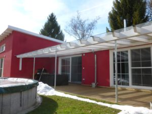 Glasüberdachung Garten
